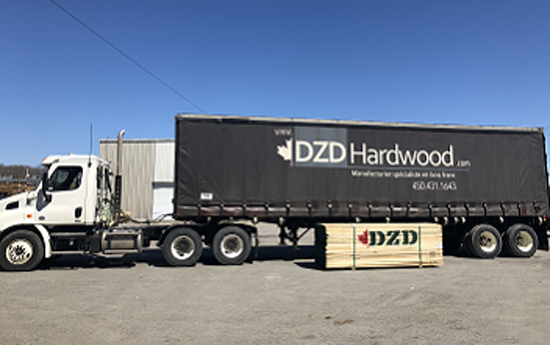 DZD-Hardwood: Container Truck Loading